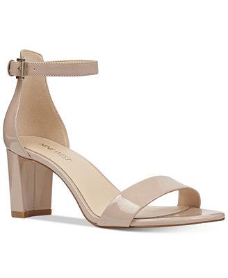 Pruce Block Heel Sandals by Nine West