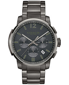 COACH Men's Bleecker Gray Stainless Steel Bracelet Watch 42mm