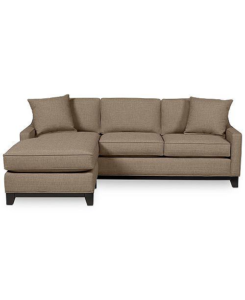 Furniture Keegan 90 Quot 2 Piece Fabric Sectional Sofa