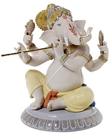 Lladró Bansuri Ganesha Figurine