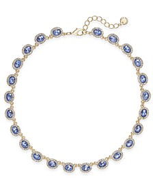 Silver-Tone Pavé & Stone Collar Necklace, Created for Macy's