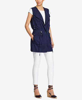 Lauren Ralph Lauren Twill Cargo Vest