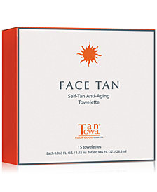 TanTowel Face Tan Self-Tan Anti-Aging Towelette, 15-Pk.