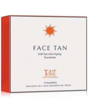 TanTowel Face Tan SelfTan AntiAging Towelette 15Pk