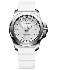 Women's I.N.O.X. White Rubber Strap Watch 37mm