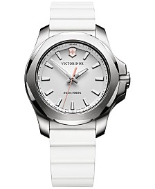 Victorinox Swiss Army Women's I.N.O.X. White Rubber Strap Watch 37mm