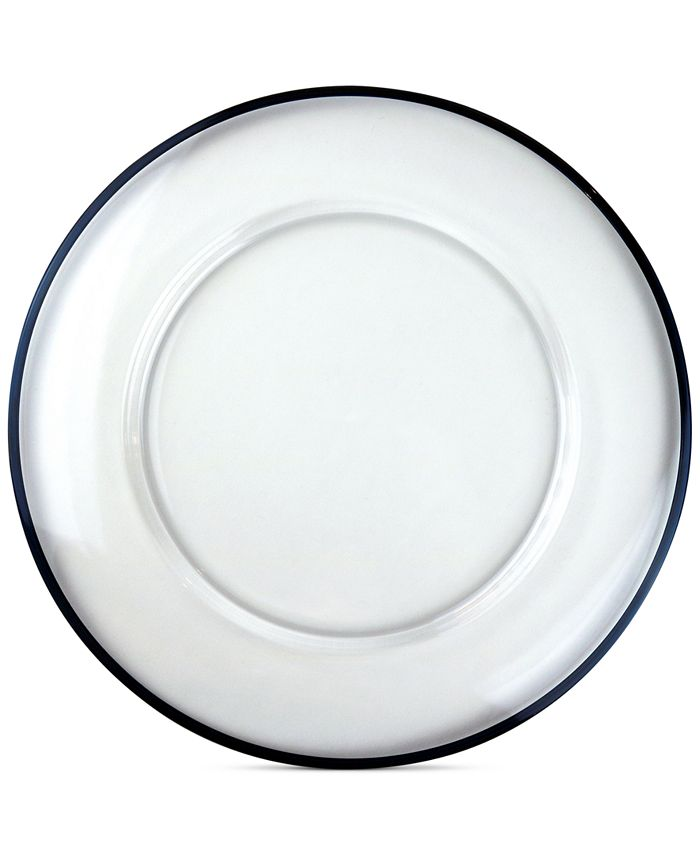 Villeroy & Boch - Verona Blue-Trimmed Clear Charger