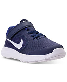 Nike Little Boys' Revolution 3 Stay-Put Closure Running Sneakers from Finish Line