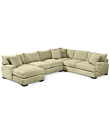 "Rhyder 4-Pc. 112"" Fabric Sectional with Chaise - Custom Colors, Created for Macy's"