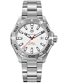 TAG Heuer Men's Swiss Automatic Aquaracer Calibre 5 Stainless Steel Bracelet Watch 43mm