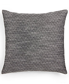 "LAST ACT! Hallmart Collectibles Gray Geometric 18"" Square Decorative Pillow"