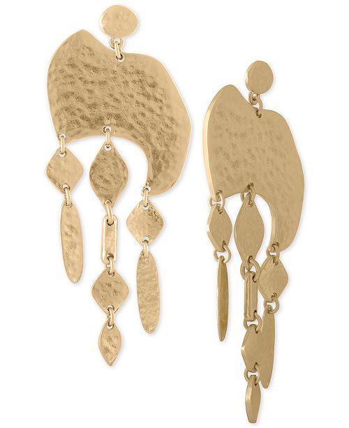 RACHEL Rachel Roy Gold-Tone Hammered Shaky Drop Earrings