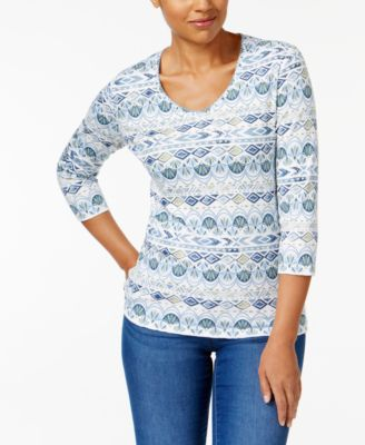 Image of Karen Scott Print Top, Created for Macy's