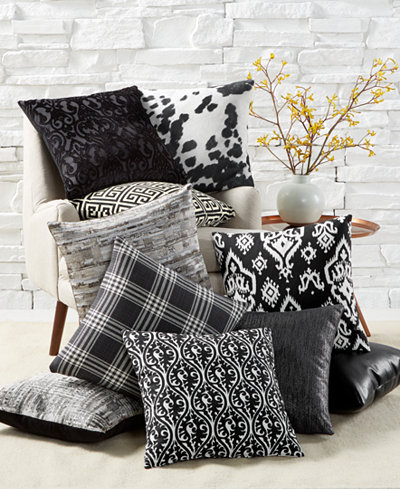 LAST ACT! Hallmart Collectibles Black & White Decorative Pillow Collection