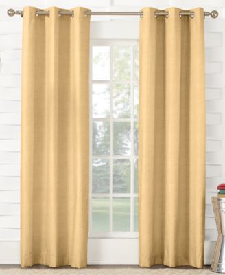 """Oscar 40"""" x 63"""" Thermal Lined Grommet Curtain Panel"""