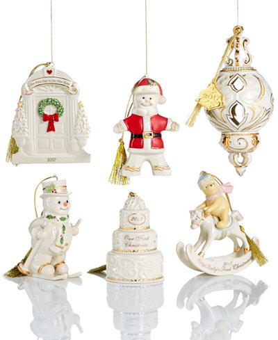 Lenox Christmas Annual 2017 Ornament Collection - Holiday ...