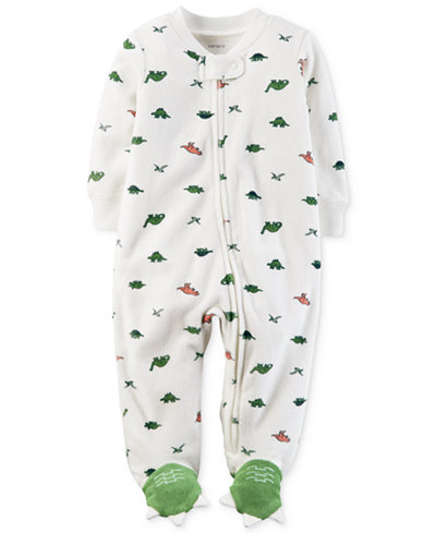Carter's Baby Boys Dinosaur-Print Terry Footed Coverall