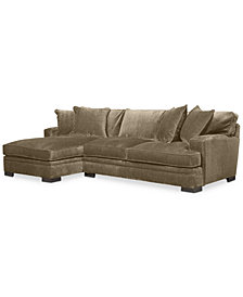 CLOSEOUT! Teddy Fabric 2-Piece Chaise Sectional Sofa, Created for Macy's