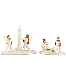 Lenox Mistletoe Park Snow Day 2-Piece Set, Created for Macy's