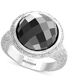 EFFY® Hematite (12mm) Statement Ring in Sterling Silver