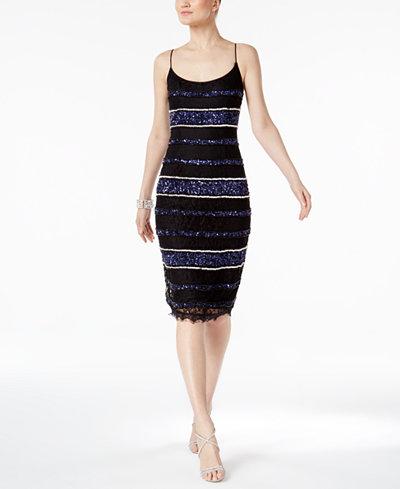 Adrianna Papell Petite Lace Sheath Dress