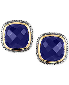 EFFY® Lapis Lazuli Stud Earrings (2-3/4 ct. t.w.) in Sterling Silver & 18k Gold