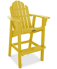 Essentials Outdoor High Dining Andirondack Chair, Quick Ship
