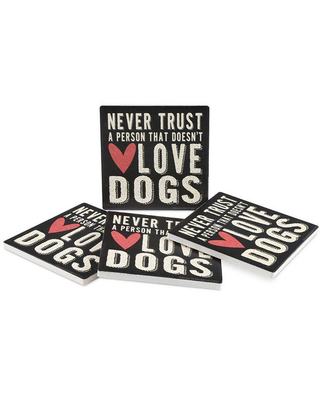 Thirstystone Dog Lover 4-Pc. Coaster Set