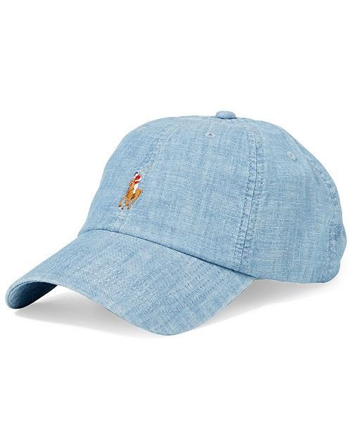 Polo Ralph Lauren Men s Chambray Sports Cap  Polo Ralph Lauren Men s  Chambray Sports ... 0949d3307bd6