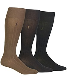 3 Pack Over the Calf Dress Men's Socks