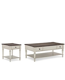 Barclay Table Set, 2-Pc. Set (Coffee Table & End Table)