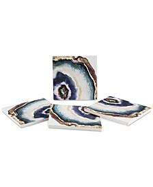 Agate Watercolor 4-Pc. Coaster Set