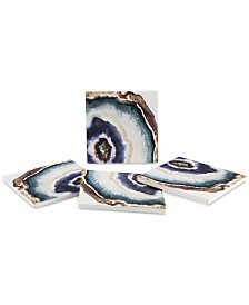 Thirstystone Agate Watercolor 4-Pc. Coaster Set
