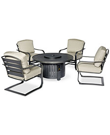 Marlough Round Fire Pit Chat Set, Created for Macy's