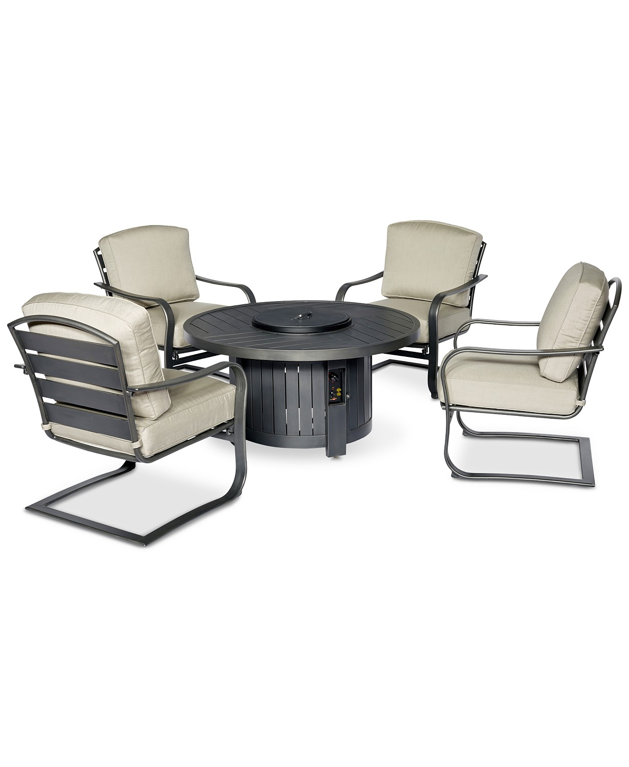 Marlough Round Fire Pit Chat Set