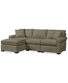 Astra 3-Pc. Fabric Sectional with Chaise - Custom Colors, Created for Macy's
