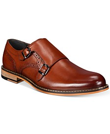 Men's Jesse Leather Monk-Strap Oxfords, Created for Macy's