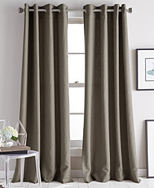 "DKNY Avenue 50"" x 95"" Jacquard Grommet Curtain Panel"