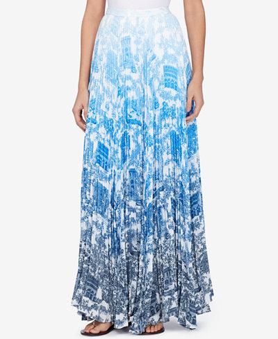 Catherine Malandrino Vera Pleated Maxi Skirt