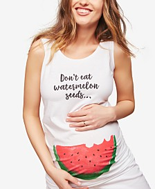 Motherhood Maternity Don't Eat Watermelon Seeds™ Maternity Tank