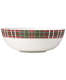 Lenox Vintage Plaid Bowl