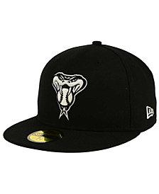 New Era Arizona Diamondbacks Black and White Fashion 59FIFTY Fitted Cap