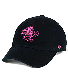 '47 Brand Women's Philadelphia 76ers Petal Pink CLEAN UP Cap