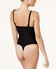 Leonisa Women's  Firm Tummy-Control Thong-Style Bodysuit 018677N