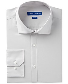 Men's Slim-Fit Comfort Stretch Solid Dress Shirt