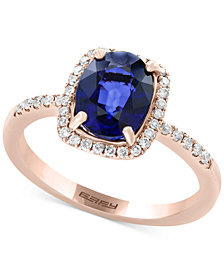 Final Call by EFFY® Diffused Ceylon Sapphire (1-9/10 ct. t.w.) and Diamond (1/5 ct. t.w.) Ring in 14k Rose Gold
