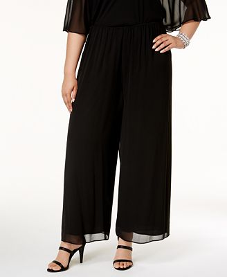 Alex Evenings Plus Size Wide Leg Chiffon Pants Pants Women Macy S