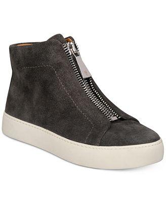 Lena Zip High Top Suede Sneakers