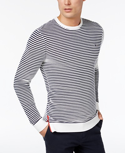 Lacoste Men's Made In France Classic-Fit Stripe Sweater