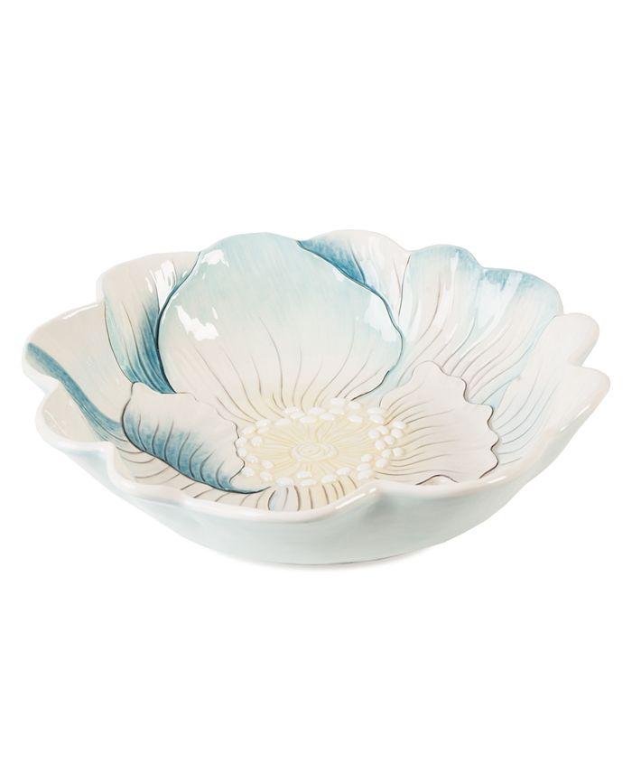 Edie Rose by Rachel Bilson - Edie Rose Dinnerware, Large Rose Sculpted Serving Bowl
